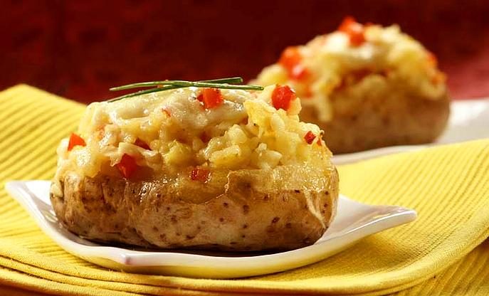 Картофель с начинкой и хрустящей корочкой