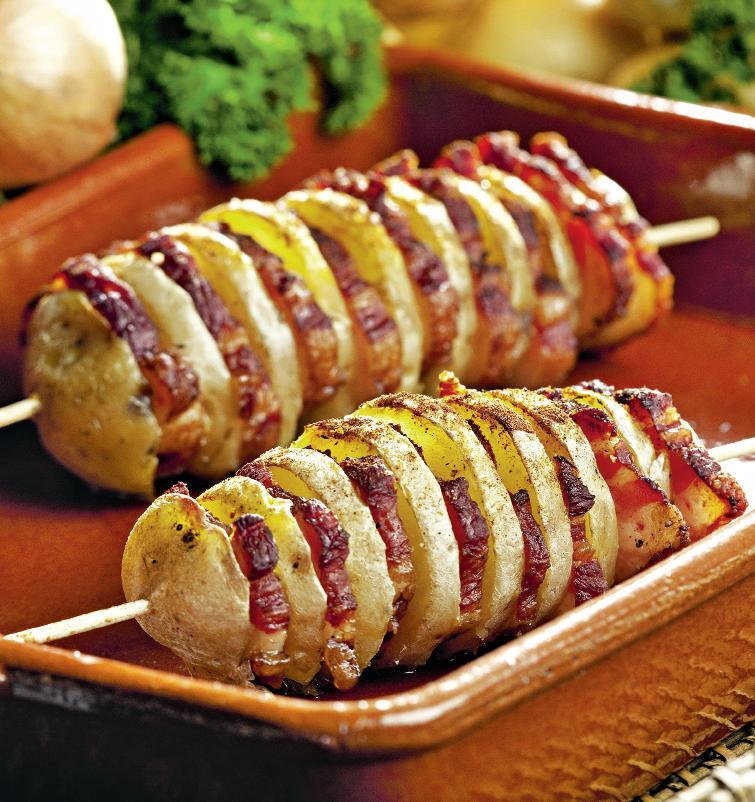 Картофельные ракушки или картошка гармошка