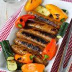 Колбаски с овощами
