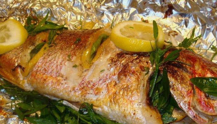 Рыба, запечённая в фольге
