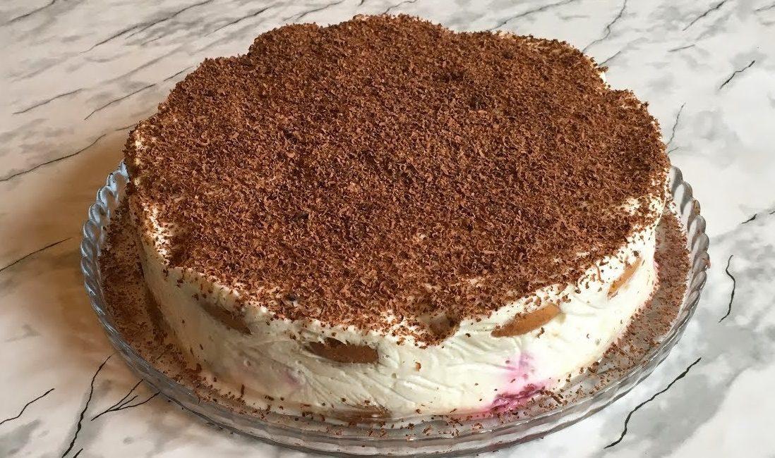Овсяно-сметанный торт на скорую руку
