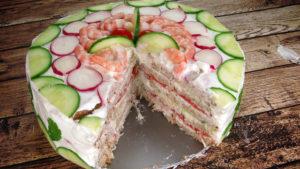 Бутербродный торт