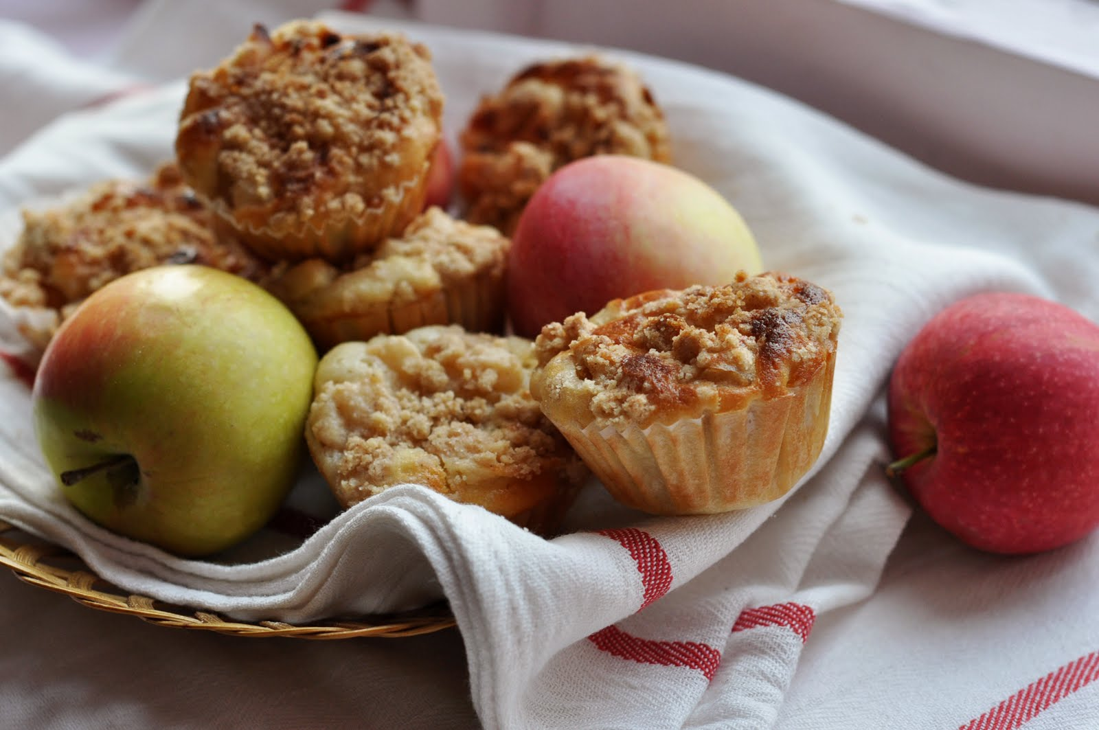 >Овсяные маффины с яблоком
