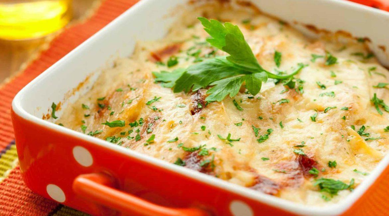 Куриная запеканка с грибами и сыром