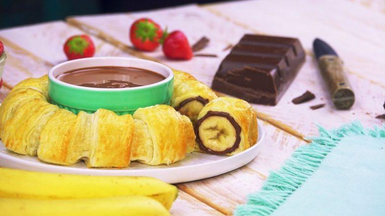 Банановый слоёный пирог