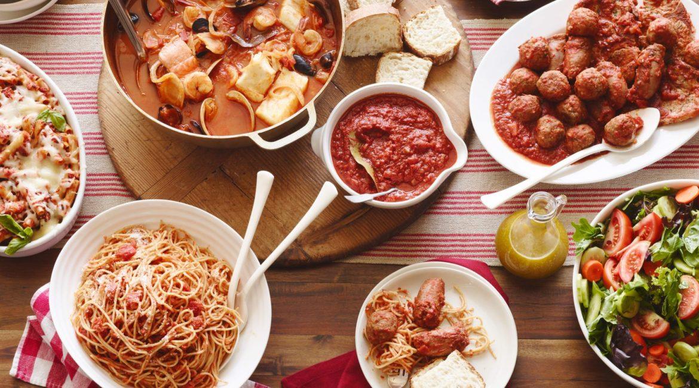 Обед в итальянском стиле