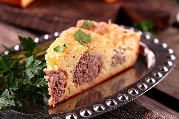 Пирог с фрикадельками за 15 минут