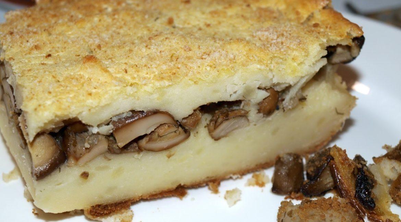 Пирог картофельный с грибами