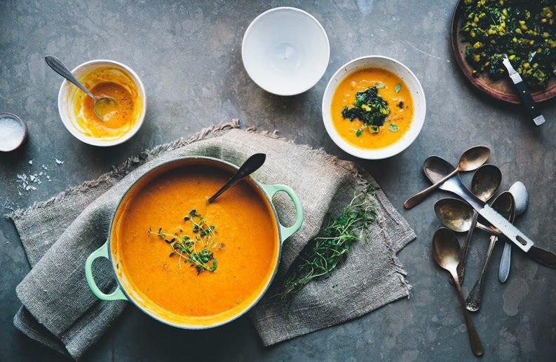 Крем-суп с апельсинами
