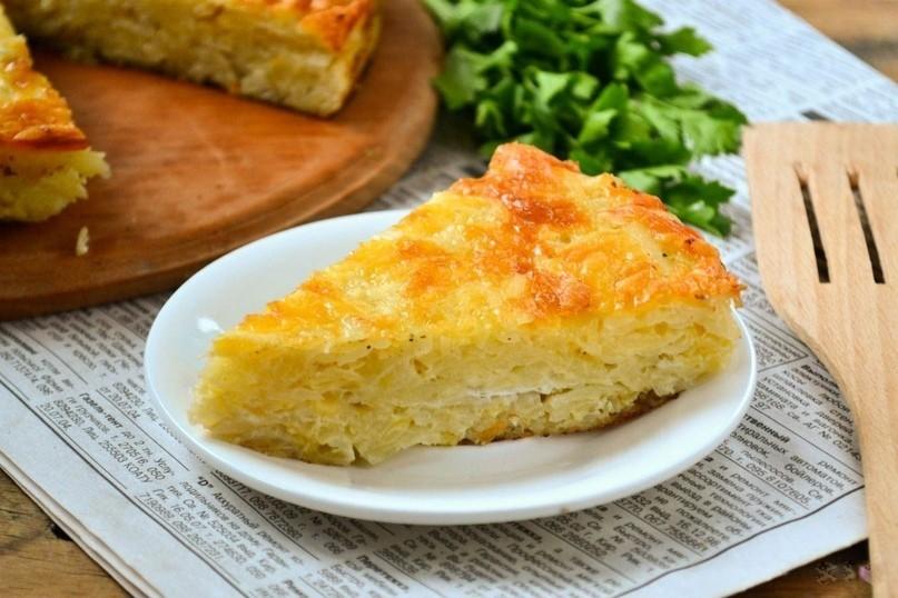 Запеканка из тёртого картофеля с сыром