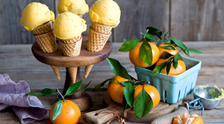 Мандариновое мороженое простой рецепт
