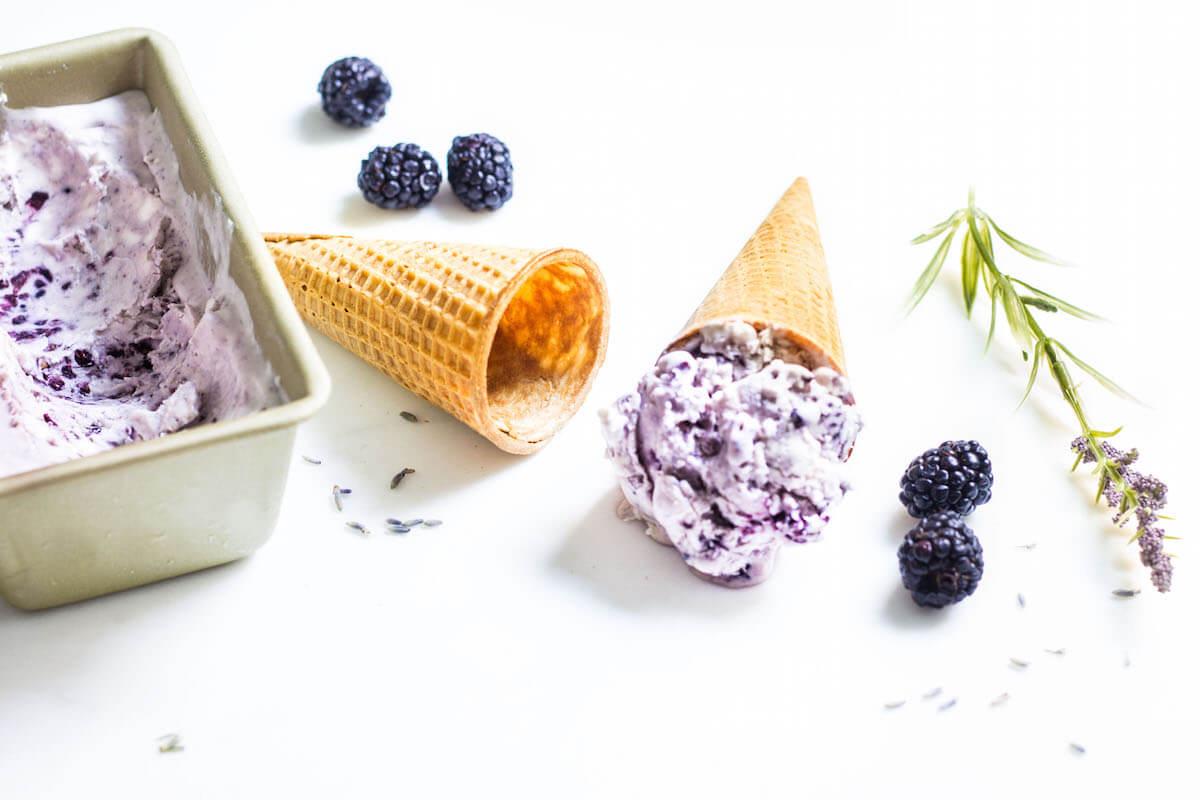 Лавандовое мороженое