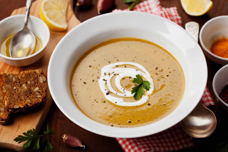 крем-суп из ячменя