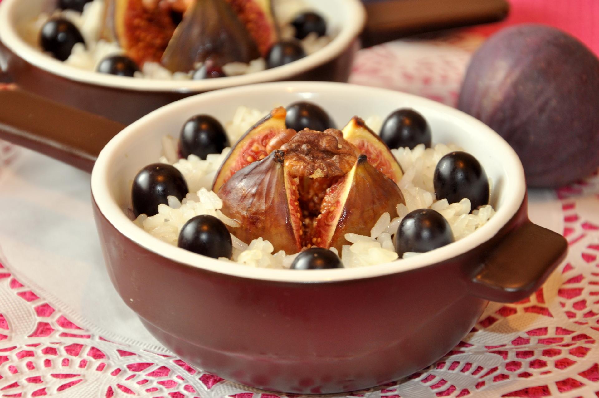 Тушёный инжир с рисом