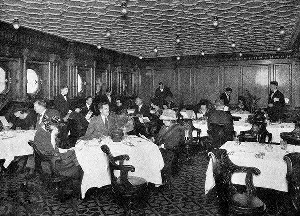 Последний ужин на Титанике для пассажиров 2-ого класса
