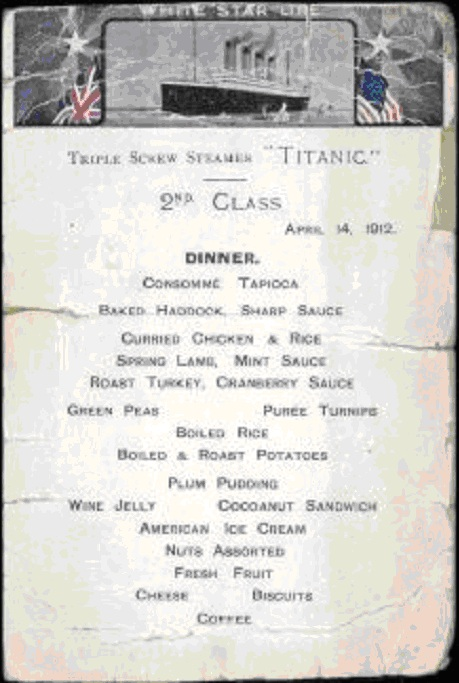 Последний ужин на Титанике. 2 класс