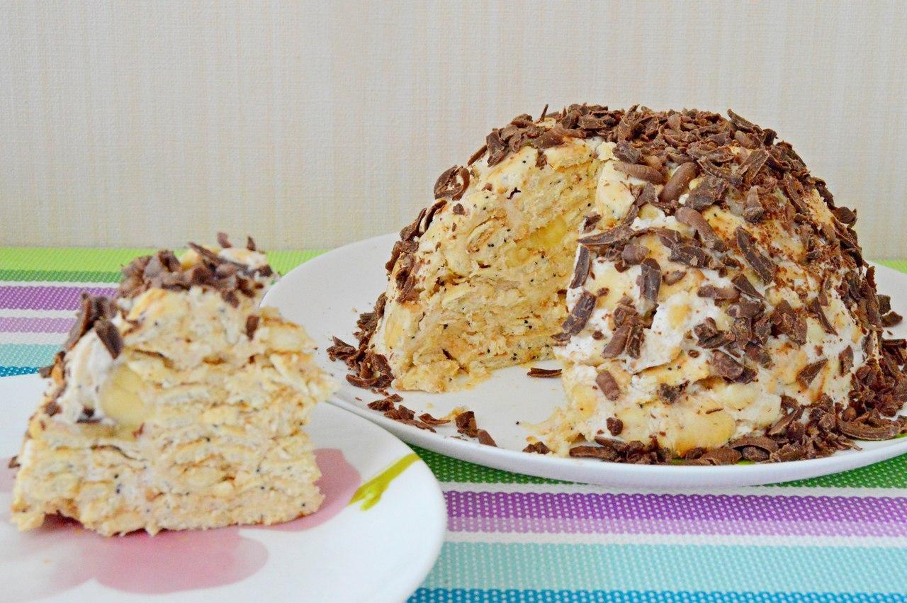 Сметанный торт с крекерами