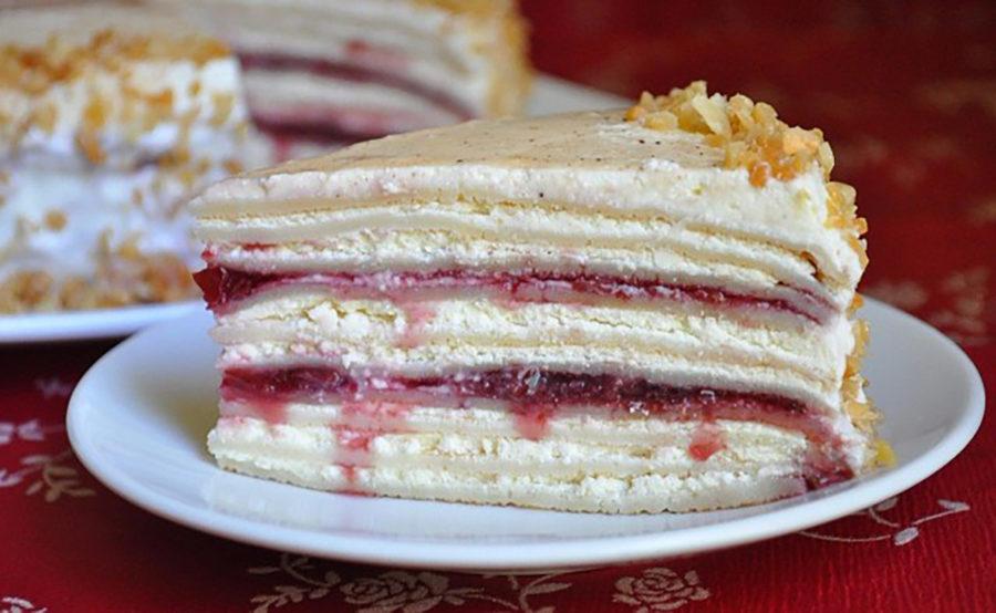 Блинный торт Любимая красавица