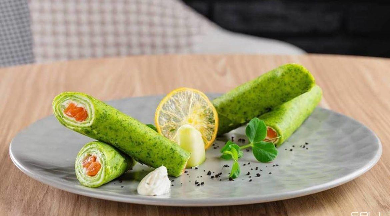 Зелёные блинчики