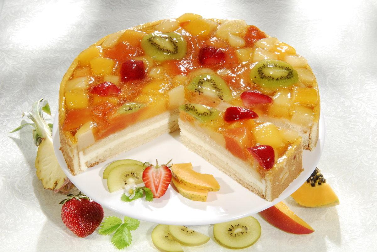 Фруктовый торт Наслаждение