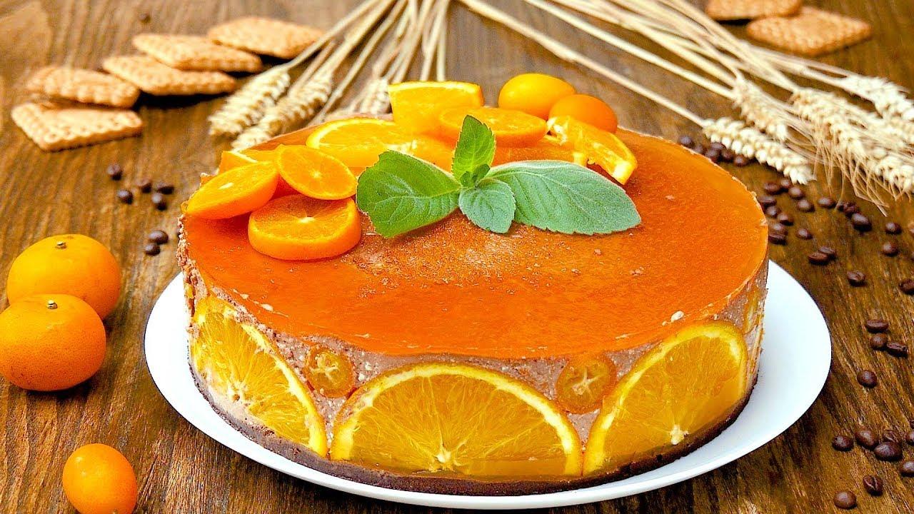 Торт без выпечки Апельсинка