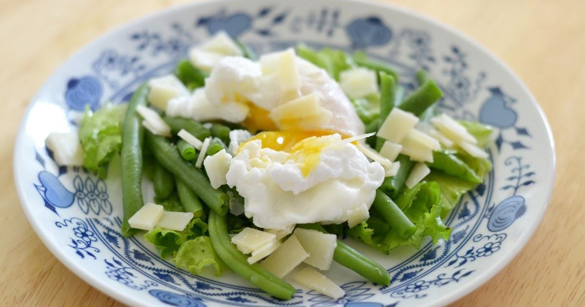 Салат из зелёной фасоли с яйцами