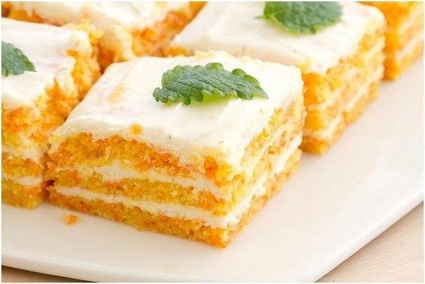 Морковно-овсяный торт за 30 минут