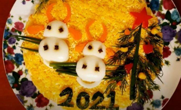 Салаты на Новый год 2021 что готовить новое и интересное в год Быка