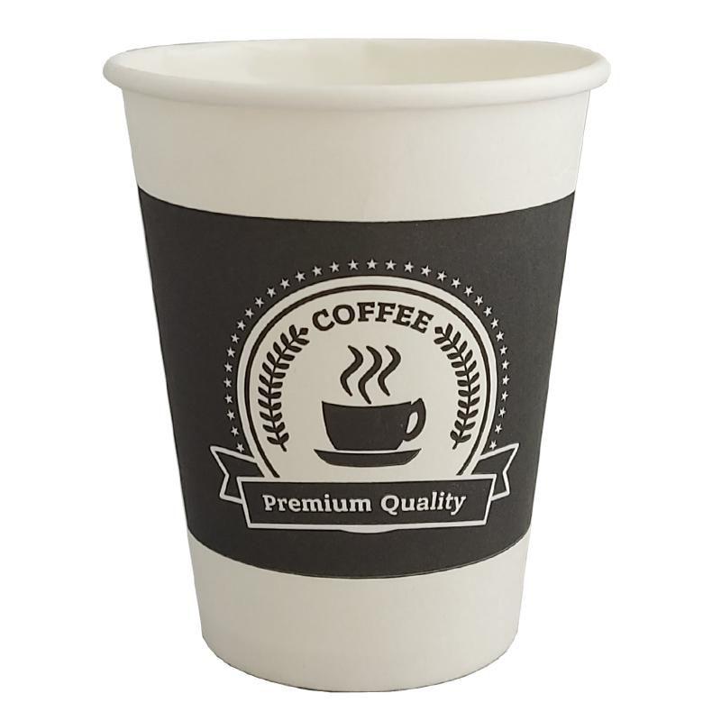Бумажный стакан одноразовый для горячих напитков 350 мл КОФЕ