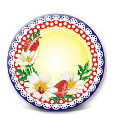 Одноразовая картонная тарелка, ламинированная, ПИКНИК-1