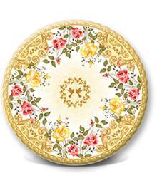 Одноразовая картонная тарелка, ламинированная, LOVE