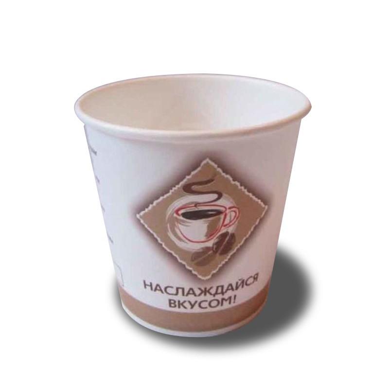 Стакан бумажный однослойный Чай-Кофе, 100 мл